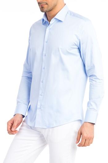 Uzun Kol Slim Fit Saten Gömlek