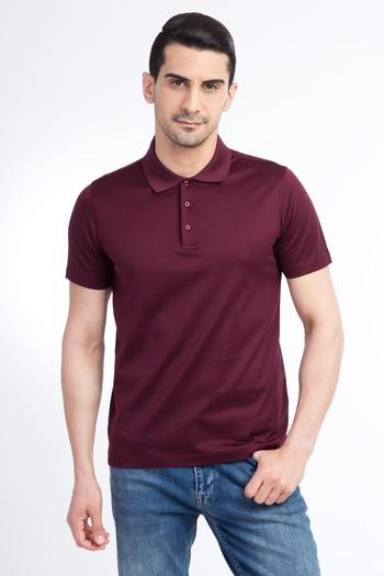Polo Yaka Merserize Slim Fit Tişört