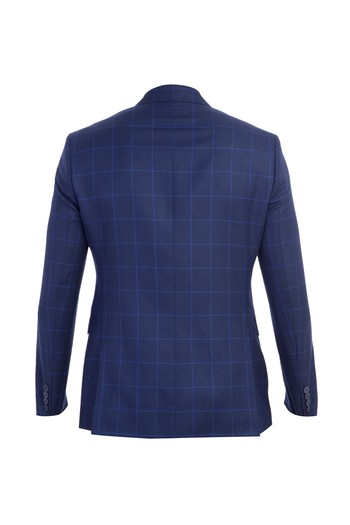 Slim Fit İtalyan Kareli Ceket