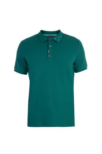 Regular Fit Boncuklu Nakışlı Polo Yaka Tişört