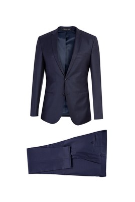 Süper Slim Fit Desenli Takım Elbise